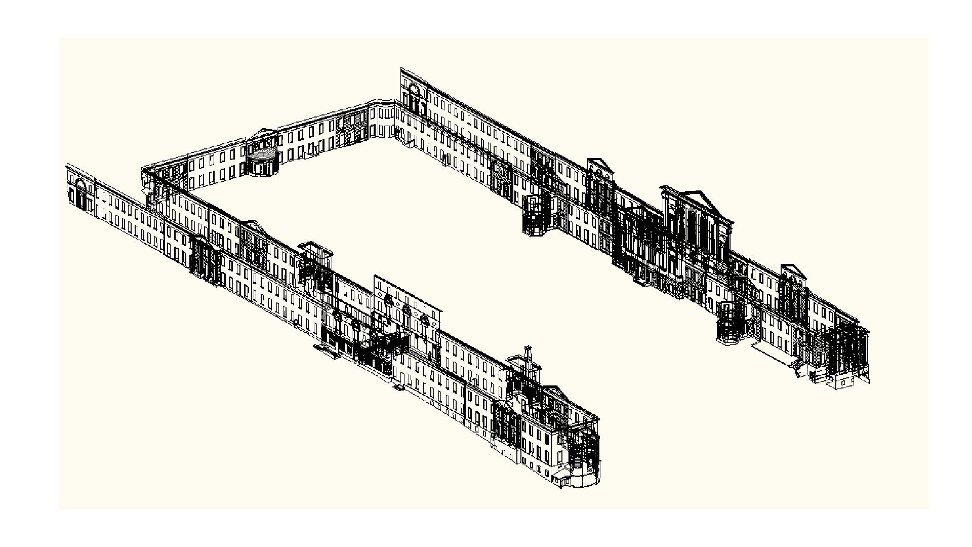 Обмер фасада в 3D